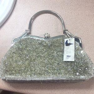 Beaded bag satchel